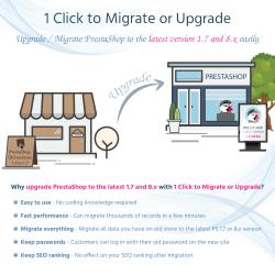 1 CLICK to Migrate or Upgrade – Upgrade PrestaShop to latest version