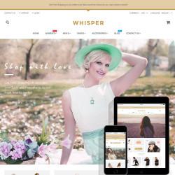 Whisper – Fashion Prestashop free theme